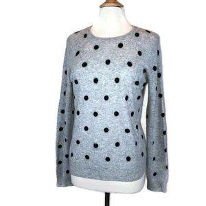 CYNTHIA ROWLEY  2-Ply Cashmere Sweater Polka Dot
